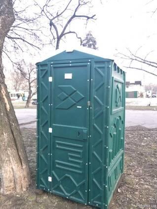Биотуалет. Кабина туалетная. Зеленый