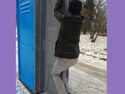 Биотуалет уличная кабина для дачи и стройки ЛЮКС