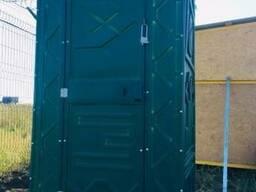 Туалет (биотуалет) с накопительным баком зелёного цвета