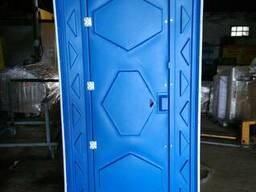 Биотуалет уличный синий. Туалетная кабина передвижная