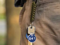 Бірка для ключей кругла на ключі з Вашим лого і номерочком