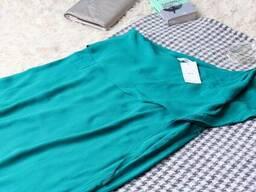 Бірюзове плаття на одне плече