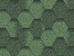 Битумная черепица Aquaizol ЭКО Мозаика красный, коричневый, зелёный