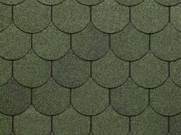 Битумная черепица Дёке Коллекция Кольчуга, Зеленая