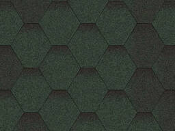Битумная черепица Зелёная микс Мозаика, размер: 1000х320 мм