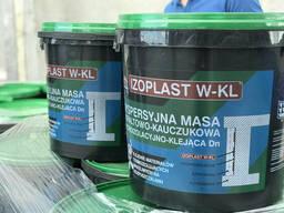 Битумно-каучуковая мастика для приклеивания теплоизоляционных плит Izoplast W-KL 20 кг.