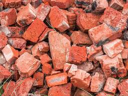 Кирпичній бой, бой бетона, дробленый бетон