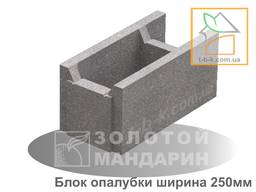 Блок бетонний незнімної опалубки 510*250*235