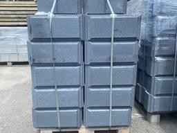 Блок для забора гладкий с фаской, 430х430х190