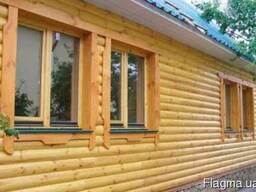 Блок хаус из сосны и термососны