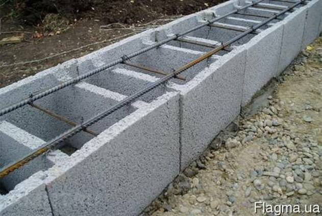 Блок несъемной опалубки бетонные 400 мм