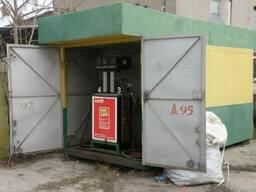 Блок-пункт немецкая передвижная колонка бензин/дизель