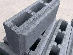 Блок для забора с фаской двухсторонний