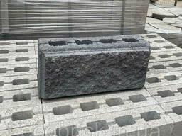Блок для забора рваный с фаской 390х190х90