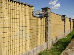 Блок заборный канелюрный