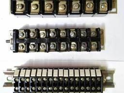 Блоки зажимов электрические, клеммные блоки