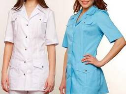 Блуза медицинская, костюм для салонов красоты, униформа