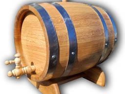 Бочка дубовая 10 л. для вина, самогона, виски. Колотый дуб.