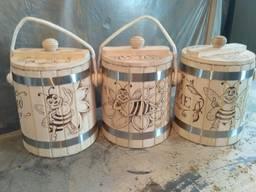 Бочонок для меда, липовая кадка, деревянная бочка для меда