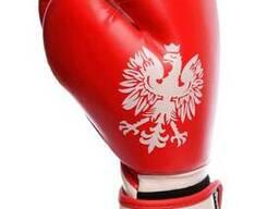 Боксерские перчатки PowerPlay 3021-2 Poland красно-белые 12 унций