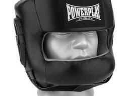 Боксерський шолом PowerPlay тренувальний 3067 з бампером PU, Amara Чорний M SKL24-144824