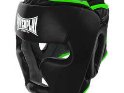 Боксерський шолом PowerPlay тренувальний 3068 PU, Amara Чорно-Зелений S SKL24-144821