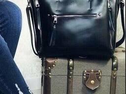 Большая сумка в наткральной коже Сумка шкіряна жіноча