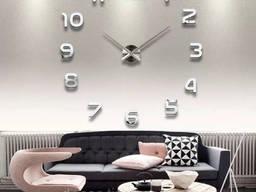 Большие оригинальные часы на стену, интерьерные 3D. ..