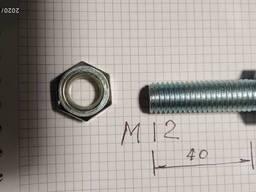 Болт с гайкой D - 12 mm , l - 40 mm анодированный