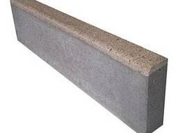 Бордюр дорожный (поребрик) серый БР 100.20.8 - фото 1