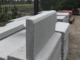 Бордюр поребрик бетонный вибролитой 500 х 200 х 45 мм