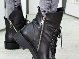 Ботинки Angelina черная кожа 7242-28