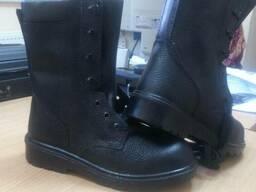Берцы, утепленная обувь, берцы утепленные литые, юфть-кирза