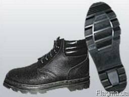 Ботинки рабочие утепленные,юфть/кирза,клее-прошивной метод