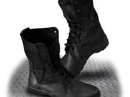 Ботинки типа Омон с высокими берцами кожаные, рабочие