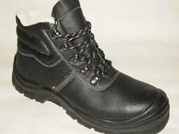 Ботинки утепленные кожаные с метподноском