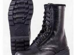 """Ботинки кожаные с высокими берцами """"Спецназ"""""""