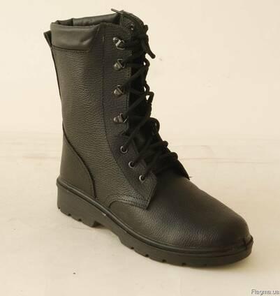 Ботинки кожаные с высокими берцами для охранных структур