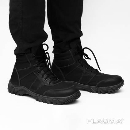 Ботинки мужские. Кожа кордура