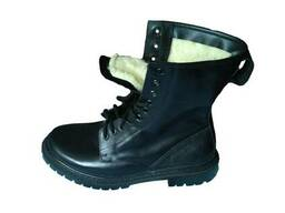 """Ботинки """"ОМОН"""" (берцы) кожаные, утеплённые"""