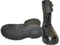 Ботинки ОМОН юфть-кирза (клеепрошивные)
