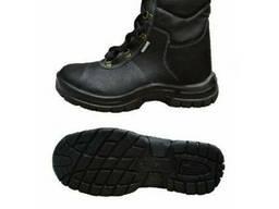 Ботинки рабочие Лидер на ПУП юфть/юфть высокие зимние
