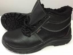 Рабочие мужские кожаные ботинки утепленные