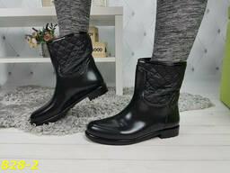 Ботинки резиновые непромокаемые утепленные флисом по всей. ..