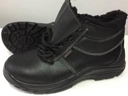 Ботинки кожаные утепленные, рабочие ботинки зимние