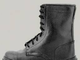 Ботинки с высокими берцами кожаные хромовые, мужские