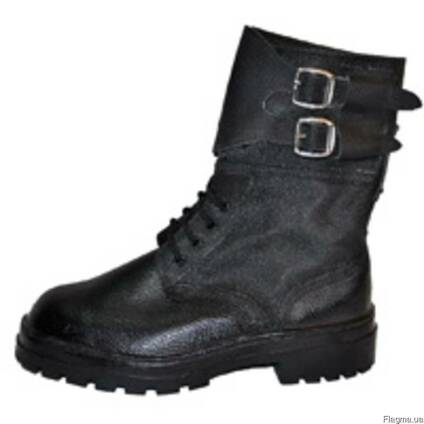 """Ботинки с завышенными берцами типа """"Омон"""" юфть-кирза,"""