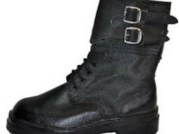 Ботинки с завышенными берцами типа Омон юфть-кирза,