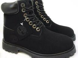 Ботинки Timberland Мужские Зимние с мехом Черные