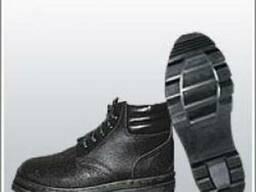 Ботинки юфтевые д/с с мягким кантом, клеепрошивные